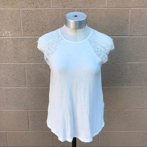 •Zara• Lace Sleeve Women's Top